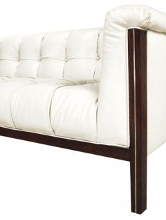 Bert England Rare Bert England for Interior Crafts Faux Ostrich and Mahogany Tuxedo Sofa - 898958