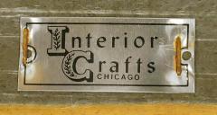 Bert England Rare Bert England for Interior Crafts Faux Ostrich and Mahogany Tuxedo Sofa - 898960
