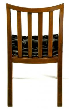 Bert England Six Bert England Forward Trend Walnut and Leather Dining Chairs - 72568