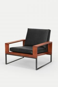Bert Lieber Teak and Leather Chair Bert Lieber Walter Knoll 60s - 1638572