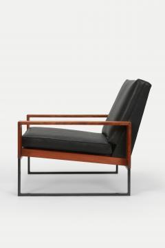 Bert Lieber Teak and Leather Chair Bert Lieber Walter Knoll 60s - 1638696