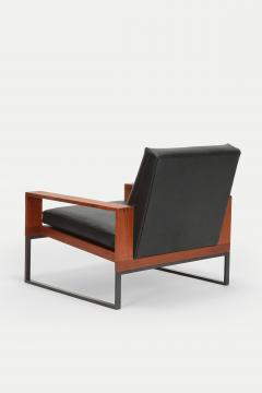 Bert Lieber Teak and Leather Chair Bert Lieber Walter Knoll 60s - 1638697