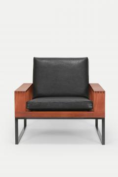 Bert Lieber Teak and Leather Chair Bert Lieber Walter Knoll 60s - 1638698