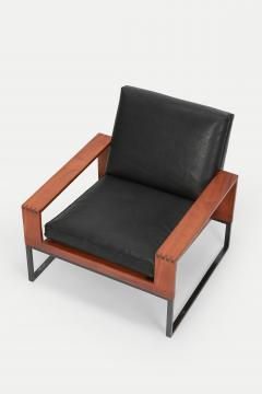 Bert Lieber Teak and Leather Chair Bert Lieber Walter Knoll 60s - 1638700