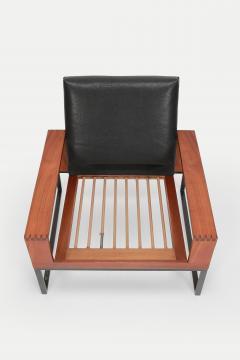 Bert Lieber Teak and Leather Chair Bert Lieber Walter Knoll 60s - 1638704