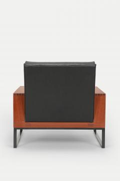 Bert Lieber Teak and Leather Chair Bert Lieber Walter Knoll 60s - 1638712