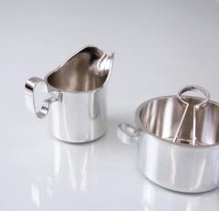 Bertel Gardberg Bertel Gardberg Silver Creamer and Sugar Bowl with Tongs - 1196785