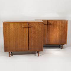 Bertha Schaefer Rare pair of asymmetrical cabinets - 810425