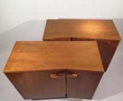 Bertha Schaefer Rare pair of asymmetrical cabinets - 810427