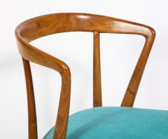 Bertha Schaefer Single Walnut Arm Chair by Bertha Schaefer for M Singer Sons - 1414945