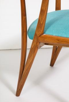 Bertha Schaefer Single Walnut Arm Chair by Bertha Schaefer for M Singer Sons - 1414947