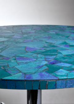 Berthold Muller Berthold Muller mosaic coffee table in blue Germany 1950s - 1143219