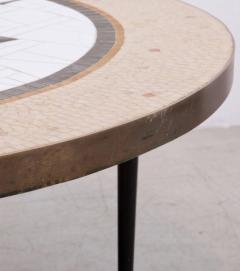 Berthold Muller Large Round Berthold Muller Mosaic Coffee Table Germany 1960s - 532483