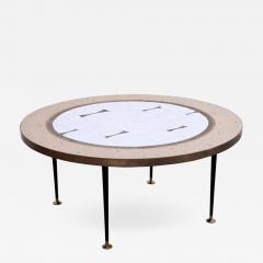 Berthold Muller Large Round Berthold Muller Mosaic Coffee Table Germany 1960s - 532713