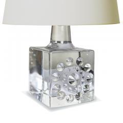 Bertil Vallien Pair of Mod Cast Glass Lamps by Bertil Vallien for Kosta - 2131254
