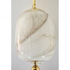 Bespoke Italian Brass Cream White Alabaster Glass Cylinder Pendant Lantern - 1389245