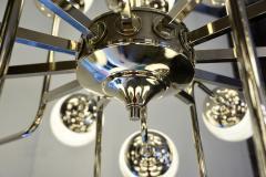 Bespoke Italian Modern 24 Light Alabaster Murano Glass Custom Nickel Chandelier - 1990708