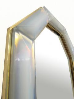 Bespoke Octagon Iridescent Opaline Murano Glass Mirror in Stock - 1603027