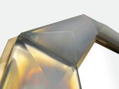 Bespoke Octagon Iridescent Opaline Murano Glass Mirror in Stock - 1603034