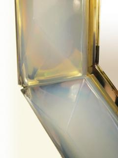 Bespoke Octagon Iridescent Opaline Murano Glass Mirror in Stock - 1603036