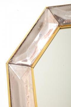 Bespoke Octagon Pink Murano Glass Mirror in Stock - 1614282