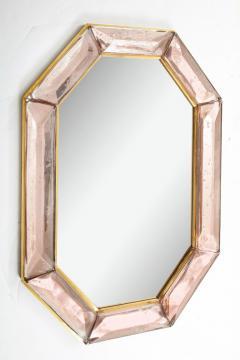 Bespoke Octagon Pink Murano Glass Mirror in Stock - 1614284