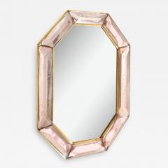 Bespoke Octagon Pink Murano Glass Mirror in Stock - 1620525
