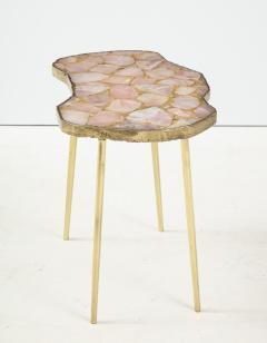 Bespoke Rose Quartz Side Table - 1576124