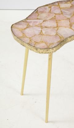 Bespoke Rose Quartz Side Table - 1576126