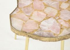 Bespoke Rose Quartz Side Table - 1576128