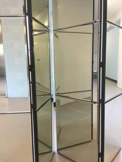 Beveled Mirrored Screen Room Divider