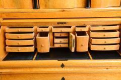 Biedermeier Burled Birch Bureau Cylindre Desk Sweden - 350204