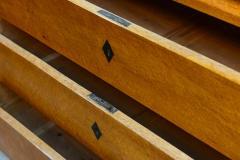 Biedermeier Burled Birch Bureau Cylindre Desk Sweden - 350208