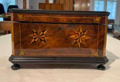 Biedermeier Casket Box Ebony Walnut and Inlays South Germany circa 1850 - 1612354