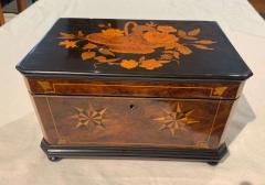 Biedermeier Casket Box Ebony Walnut and Inlays South Germany circa 1850 - 1612356
