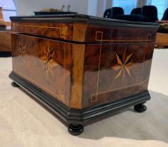 Biedermeier Casket Box Ebony Walnut and Inlays South Germany circa 1850 - 1612357
