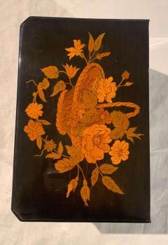 Biedermeier Casket Box Ebony Walnut and Inlays South Germany circa 1850 - 1612358