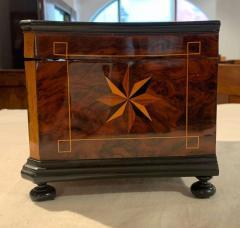 Biedermeier Casket Box Ebony Walnut and Inlays South Germany circa 1850 - 1612369