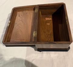 Biedermeier Casket Box Ebony Walnut and Inlays South Germany circa 1850 - 1612370