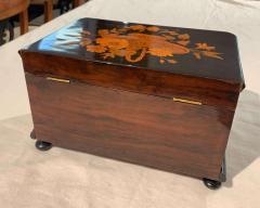 Biedermeier Casket Box Ebony Walnut and Inlays South Germany circa 1850 - 1612371