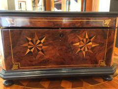 Biedermeier Casket Box Ebony Walnut and Inlays South Germany circa 1850 - 1612372