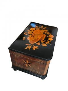 Biedermeier Casket Box Ebony Walnut and Inlays South Germany circa 1850 - 1612376