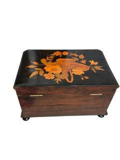 Biedermeier Casket Box Ebony Walnut and Inlays South Germany circa 1850 - 1612386
