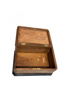 Biedermeier Casket Box Ebony Walnut and Inlays South Germany circa 1850 - 1612389