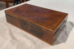 Biedermeier Casket Box Mahogany French Polish Austria Vienna circa 1830 - 1612404
