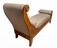 Biedermeier Chaise Longue Polished Walnut Germany circa 1820 - 1240288