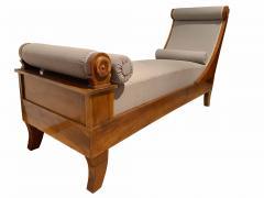 Biedermeier Chaise Longue Polished Walnut Germany circa 1820 - 1240289