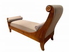 Biedermeier Chaise Longue Polished Walnut Germany circa 1820 - 1240290