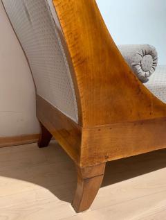 Biedermeier Chaise Longue Polished Walnut Germany circa 1820 - 1240295