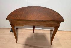 Biedermeier Demi Lune Console Table Walnut Veneer South Germany circa 1825 - 1958825